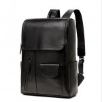 Black Leather Backpack Mens